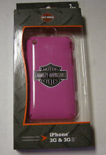 """Harley-Davidson iPhone 3G Phone Cover, Bright PInk, By foneGEAR, 2.5"""" x 4.5"""",New"""