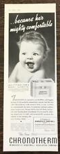 1940 Minneapolis Honeywell Chronotherm Thermostat Print Ad Cute Baby