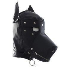 High Quality UA100 DOGGY harness PU Leather Bondage MASK Fetish Hood Cosplay