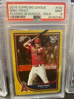 2018 Topps Big League 150 Mike Trout Players in Dugout Gold [PSA 9]