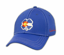 New Black Clover Colorado Flag Live Lucky #2 Blue Fitted S/M Golf Hat/Cap