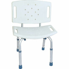 BODYMED ALUMINUM SHOWER CHAIR WITH BACKREST