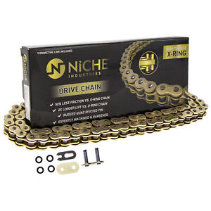 NICHE Gold 520 X-Ring Chain 110 Links With Connecting Master Link Motorcycle