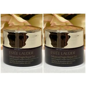 2 Estee Lauder Advanced Night Repair Eye Supercharged Complex Recovery .17=.34oz