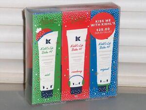 KIEHL'S Lip Balm # 1, SET OF 3, Mint, Cranberry, Vitamin E, .5 oz, 15 ml SEALED