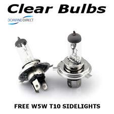 H4 100w (472) Clear Standard Xenon Car Headlight Bulbs 12v + W5W Sidelights D
