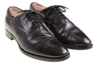 Brooks Brothers Made in ENGLAND Black Leather Punch Cap Toe Oxford Shoes 7.5 D