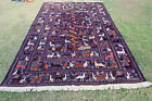 COLLECTORS' PIECE Stunning Tree of Life with Pictorial Snake Shikar Gha Area Rug