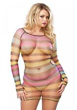 Leg Avenue Cocktailkleider Rainbow Striped Minidress
