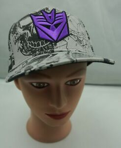 Transformers Decepticon Hat Gray Kids Size Snapback Baseball Cap Pre-Owned ST230