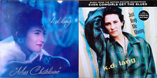 "K.D. LANG - MISS CHATELAINE (12"" EP) + JUST KEEP ME MOVING (12"" EP) - ONE LOT"