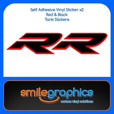 BMW S1000RR Tank Decals Black Red Stickers early model