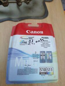 CANON CL511 CL-511 COLOUR + PG510 PG-510 BLACK