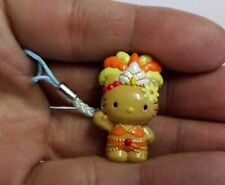Hello Kitty Cosplay Dancing Show Girl Carnival Dance Phone Charm Strap Orange