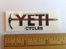 "2.5"" Medium YETI CYCLES Frozen Pick Axe MTB BICYCLES BIKE FRAME STICKER DECAL"