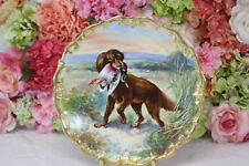 Beautiful, Limoges Hand Painted Charger, Gilt, Signed