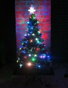 Christmas Tree w/ Bright Colorful Blinking Lights w/ Star Topper 3ft Tall - New