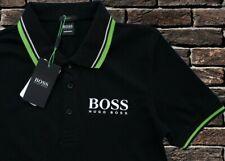 HUGO BOSS T Shirt Polo Genuine Black Size M Brand New Men Cotton Black Label