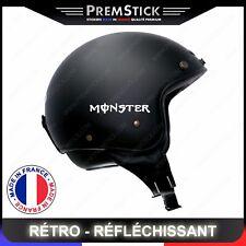 Kit 4 Stickers Retro Reflechissant Monster - Casque Moto autocollant, ref3