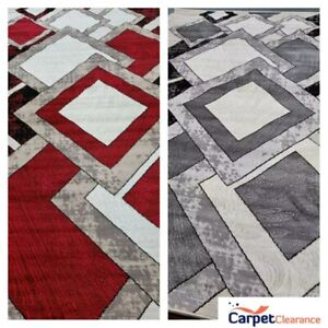 Quality Rug Red Grey Soft Touch Living Room Turkish Floor Carpet