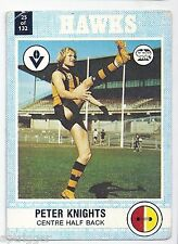 "1977 Scanlens (25) Peter KNIGHTS Hawthorn "" """