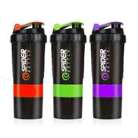 600ml Protein Shaker Bottle Cup Blender Gym Sport Milk Powder Drink Shake Mixer