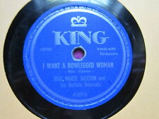 BULLMOOSE JACKSON I want a Bowlegged woman All my love belongs to you 78 rpm