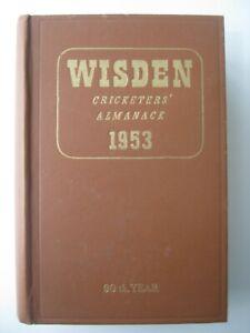 1953 WISDEN CRICKETERS' ALMANACK - Hardback Edition