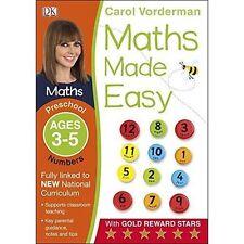 Maths Made Easy Numbers Preschool Ages 3-5 by Carol Vorderman (Paperback, 2014)