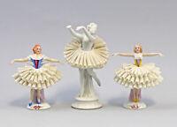 8340219 3 Porzellan-Figuren Spitzentänzerinnen Ballett Sitzendorf Thüringen