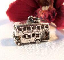 Bus Anhänger Bettelarmband Silber Charms Doppeldecker / bl 832