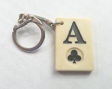 Ace of Clubs Gambling Keychain Souvenir Travel Key Ring Plastic