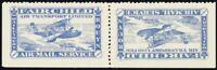 CL12a, VF NH Invert Tete-beche Pair Semi-Official Stamps CV $140.00 Stuart Katz