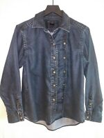 Marc By Marc Jacobs Womens Size S Long Sleeve Denim Shirt Double Button Front