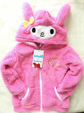 My Melody & Kitson fuzzy Soft jacket hoodie costume clothing Japan Christmas