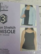 Felina Ladie's 2 Pack Cotton Stretch Camisoles Black/White Small 2091