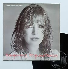 "Vinyle 33T Marianne Faithfull  ""Dangerous acquaintances"""
