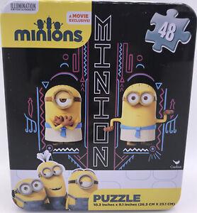 Minions Puzzle 48 Pc Collectible Tin Illumination Movie Exclusive 10x9 Cardinal