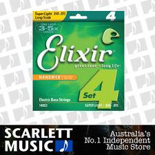 Elixir 14002 40-95 Nickel Plated Steel Coated Bass Strings .040-.095 *BRAND NEW*