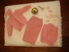 Knitting Pretty #957 BARBIE Doll VTG Fashion 1963 Pink Incomplete Sweater mended