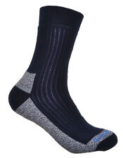 2 Pairs of Ladies Cotton Coolmax Walking Socks Navy Blue