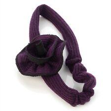 En tricot motif fleur pourpre Bandeau Tête Écharpe Extensible Bande-Accessoires Cheveux
