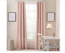 Restoration Hardware Cotton Linen Drapery Curtain, Pink, NEW