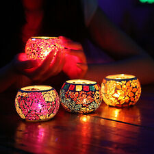 Mosaic Glass Tealight Candle Holder Votive Candlestick Chinese Home Decoration