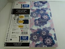 "Five Star Spiral Note Book, 1 Subuject, College Ruled, 11"" x 8-1/2"", 100 Sheets"