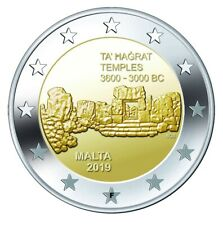 Malta 2 euro 2019 Ta Hagrat Temples UNC coin - mintmark F (Malta)