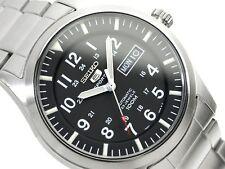 SEIKO Hombres Reloj Automático 100M Esfera Negra Militar Snzg 13 SNZG 13K1