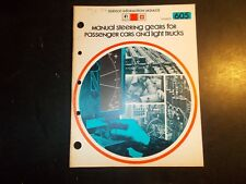 1975 1976 Gm Manual Steering Gears For Cars & Light Trucks Service Info Manual