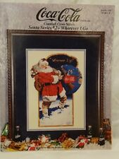 COCA-COLA SANTA SERIES 2 Counted Cross Stitch Leaflet Pattern 1994 #359 Wherever