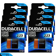 8 x Duracell Ultra Lithium CR223 6V batteries DL223 EL223AP CR-P2 CRP2 EXP:2024
